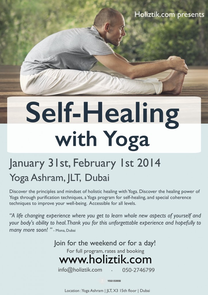 Holiztik Yoga for self-healing flyer Jan Feb 2014