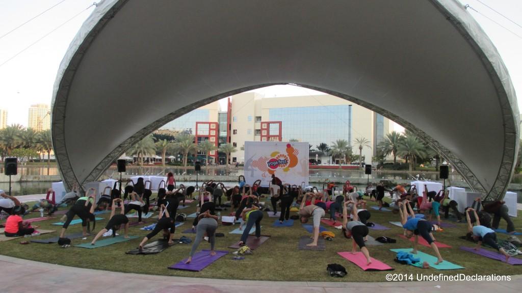 Yoga Tent at Yoga Fest Dubai