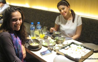 Savannah and I at Sushi Art's DIFC Branch