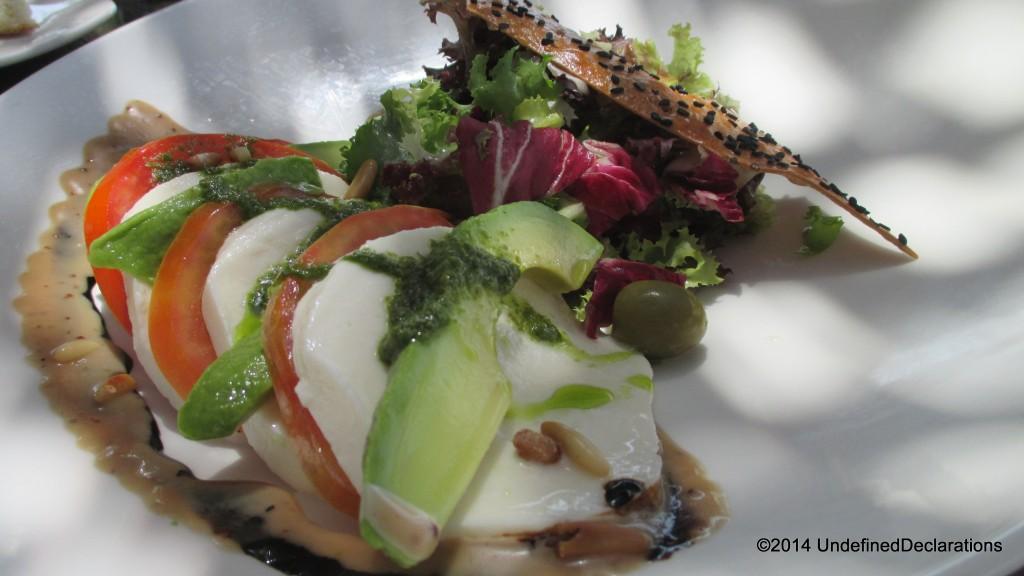Caprese salad at Captain's bar