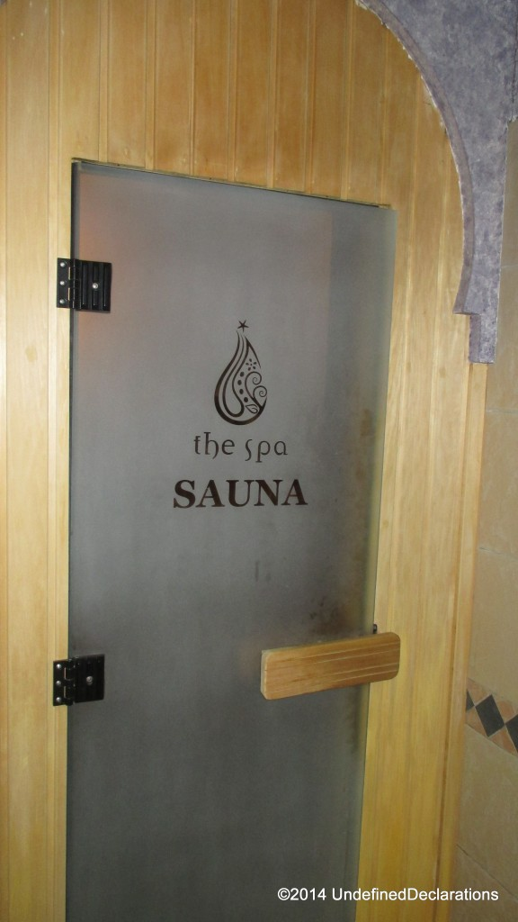 Sauna Room at JA Golf Resort and Spa
