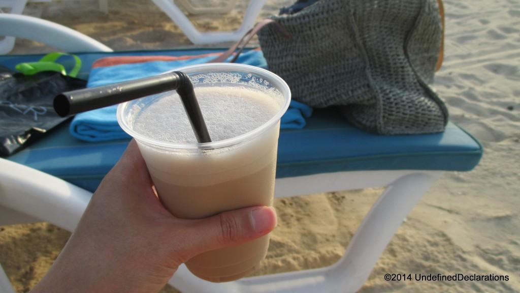 Iced Latte at JA Beach!