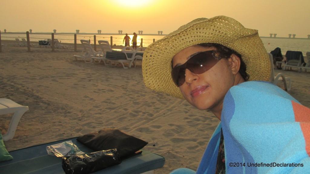 Me at my favorite Dubai Beach Club!