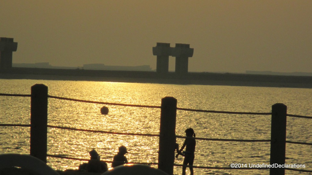 The JA Beach at sunset...