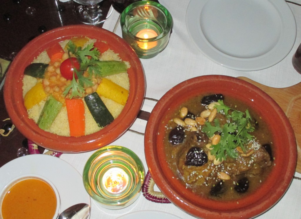Couscous and Lamb Tagine at Moroccan Restaurant and Lounge