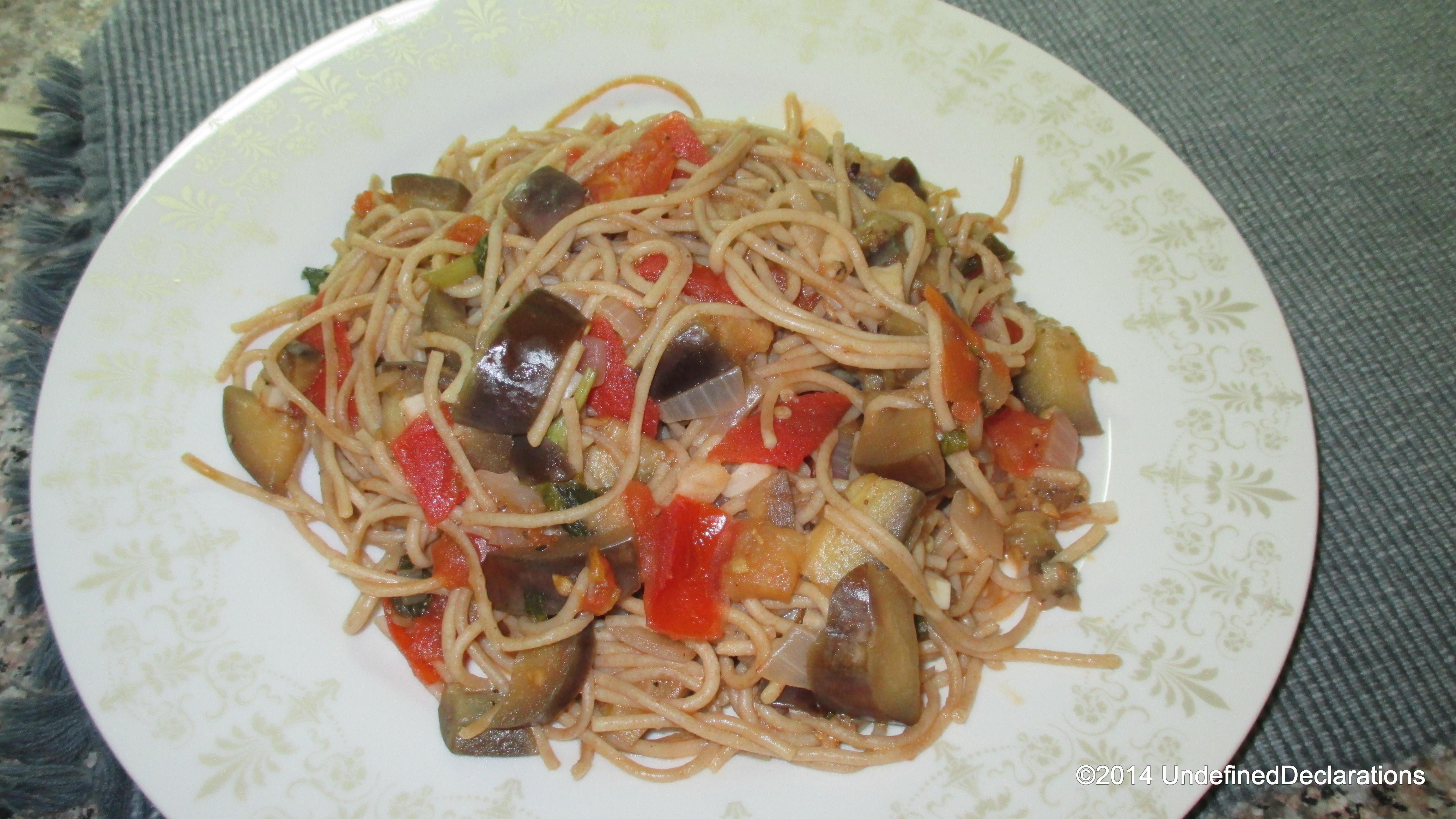 UD Recipe Story: Aubergine & Chilli Pasta