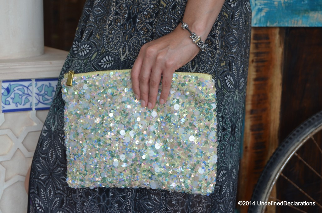 Zara clutch bag