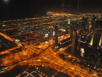 City Lights in the Gulf Region