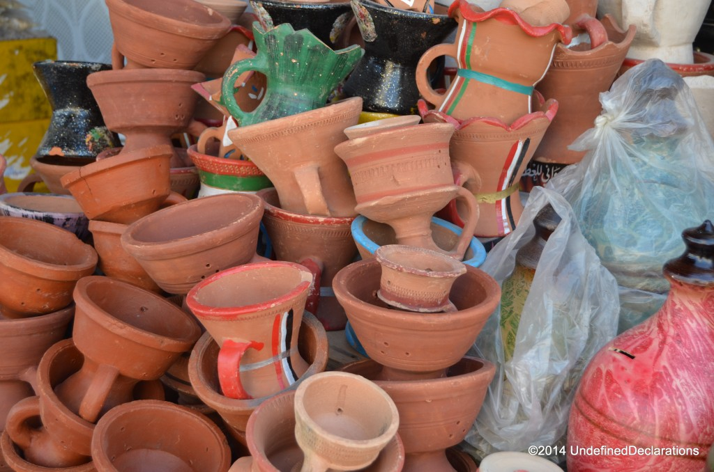 pottery gifts at Muttrah Souq