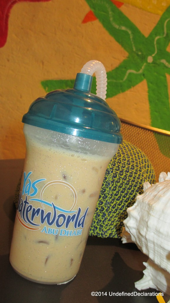 iced coffee at Yas Waterworld