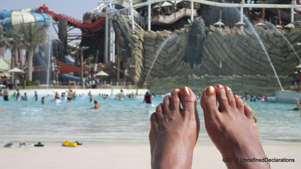 Chilling at Yas Waterworld