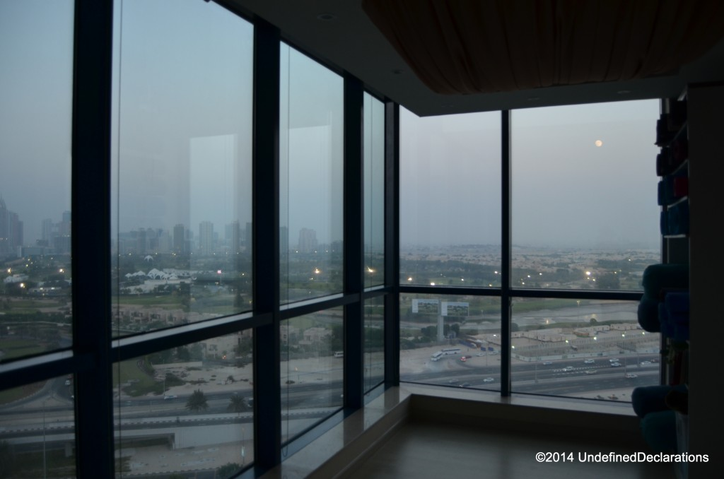 Great views at Yoga Ashram Dubai studios