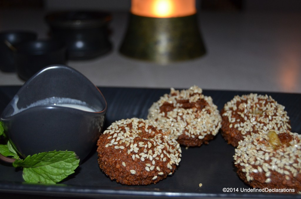 Scrumptious Falafel bites at The Chedi Muscat