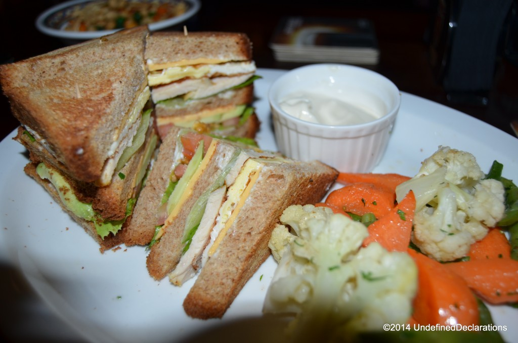 Top quality club sandwich at O'Malley's in Muscat