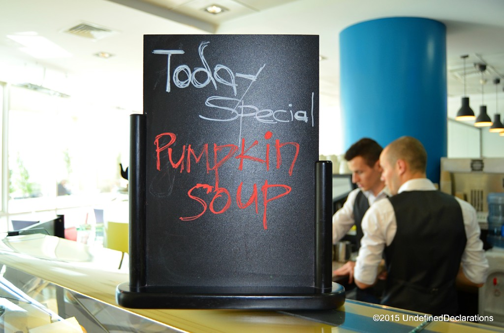 The pumpkin soup at Java Jolt Dubai tasted like home-made soup!