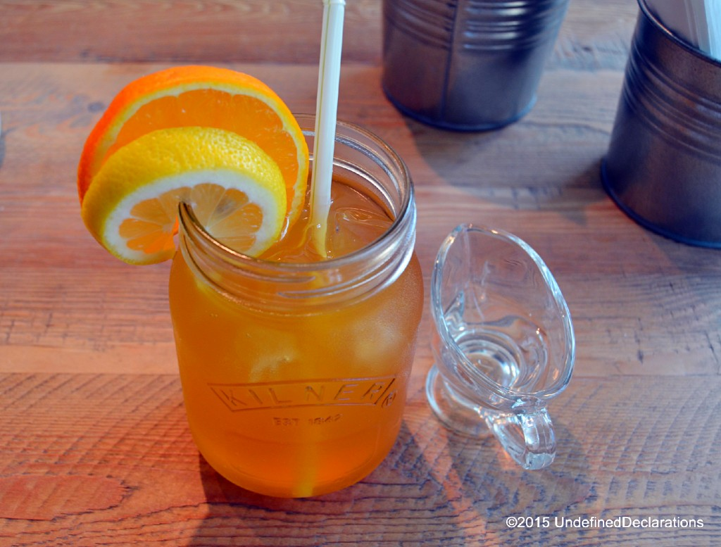 Freshly made Rooibos iced tea with a hint of orange and lemon, at Java Jolt Dubai - simply divine and refreshing