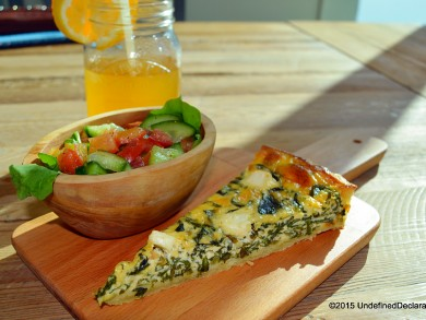 Quiche and iced tea at Java Jolt Dubai
