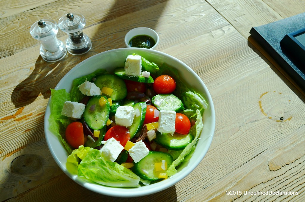Greek salad at Java Jolt Dubai