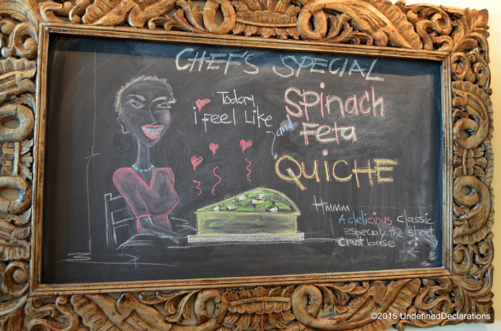 Specials change depending on the Chef's choices at Java Jolt