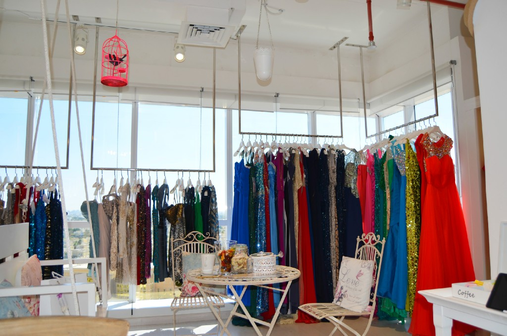The boutique hosts a wide selection of special occasion dresses by local and International designers.
