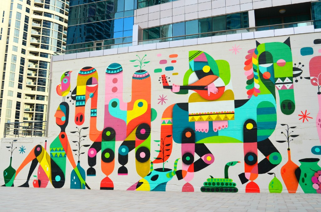 The Creative Community Wall in JLT, Dubai