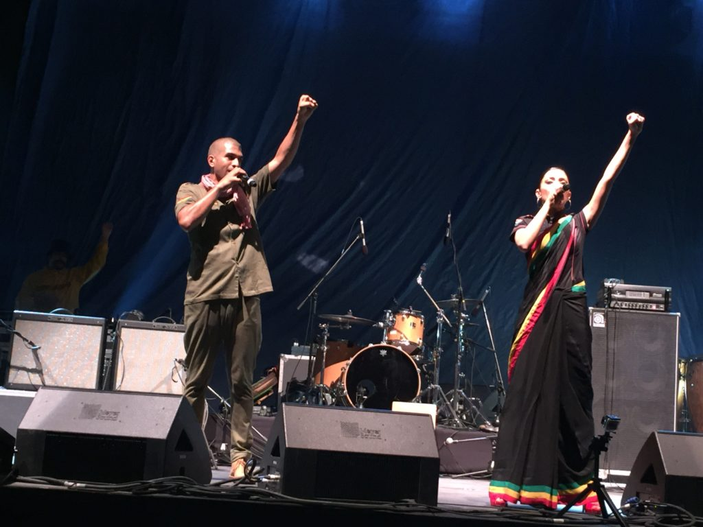 Indian reggae band duo Delhi Sultanate and Begum X perform songs of equality, community, and positivity at the first ever Salam Aleikum peace concert at Dubai's Zabeel Park on Friday.